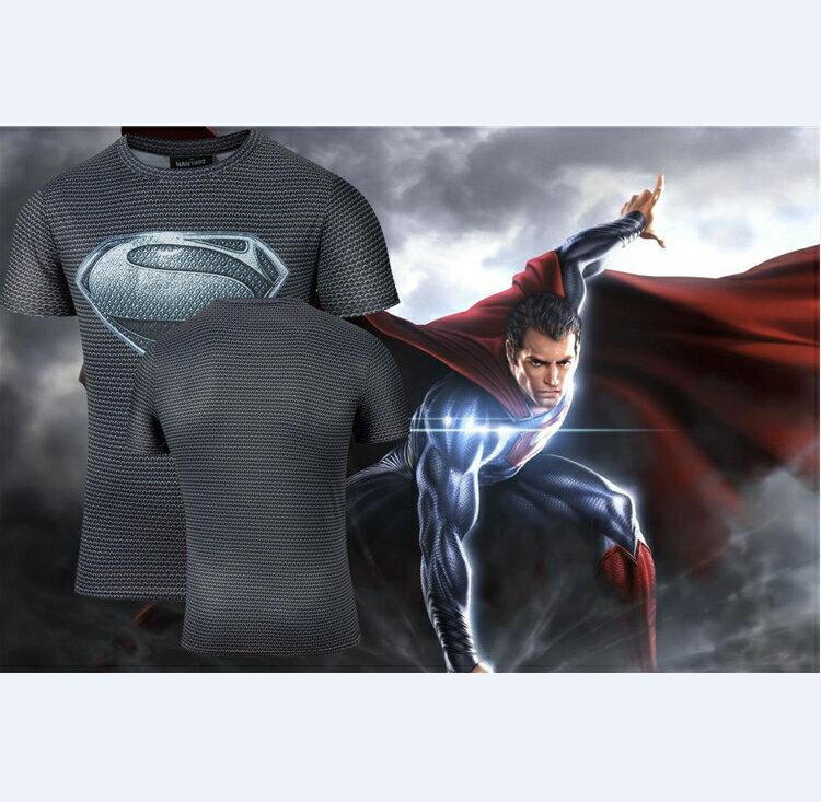 50%OFF【A012840C】暗黑超人大戰蝙蝠俠系列短T漫威卡通復仇者聯盟街頭男女可穿英雄牛奶絲短T