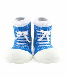 【本月特價$599】韓國【Attipas】快樂腳襪型學步鞋-律動深藍 - 限時優惠好康折扣