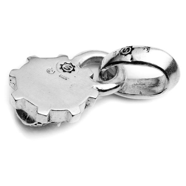 【海外訂購】【STARLINGEAR】經典齒輪骷髏純銀墜飾-鑲鑽款(STP022-D  0253850000) 3