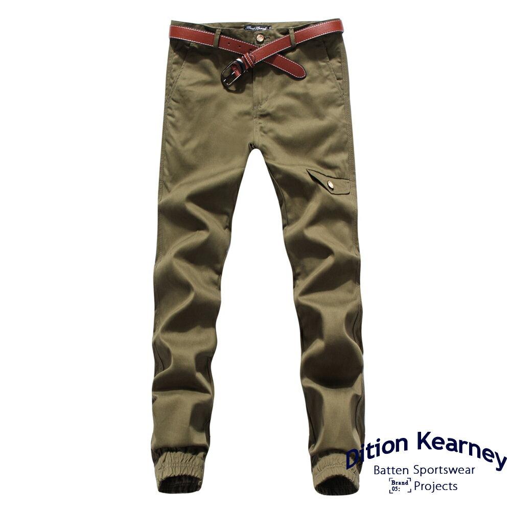 DITION   軍風釘釦JOGGER側口袋七分縮口褲 合身版 2