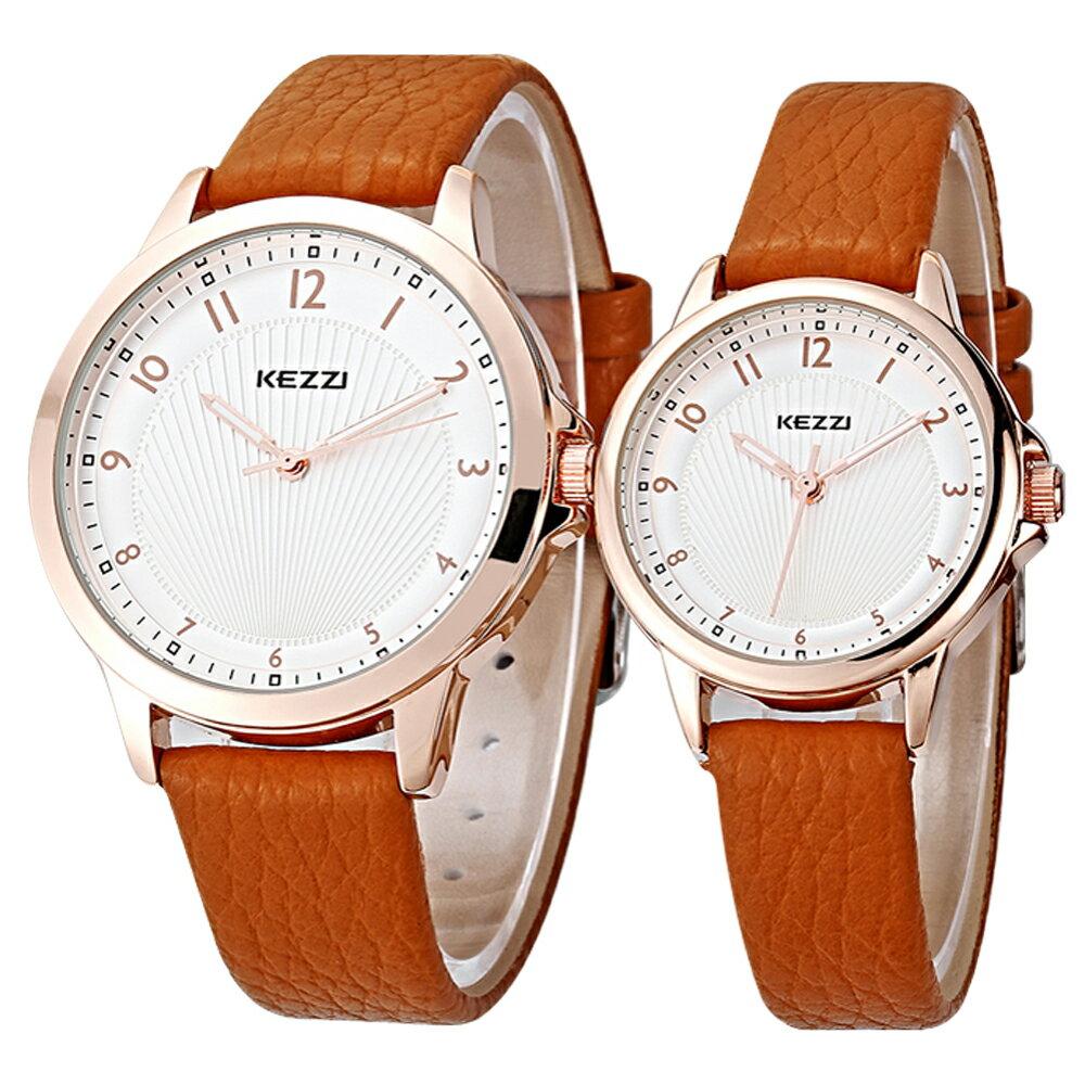 KEZZI 珂紫 K-1164 典雅數字設計精緻情侶對錶 2
