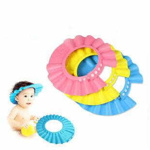 寶寶洗頭帽幼兒洗髮帽兒童浴帽嬰兒洗澡帽可調整大小【庫奇小舖】