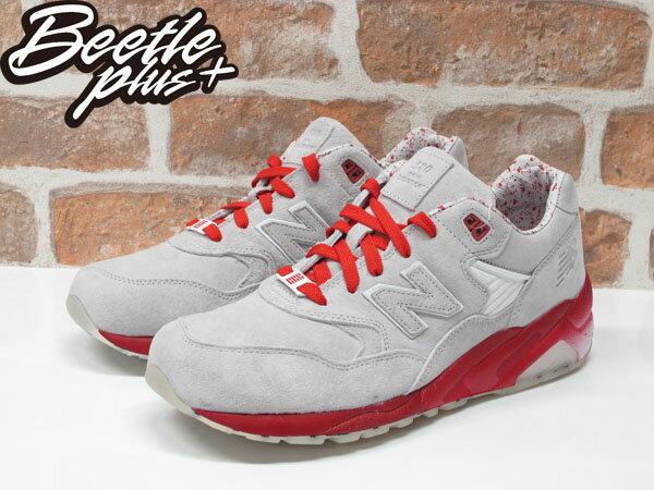 男生 BEETLE NEW BALANCE MT580GI2  BAIT 特種部隊 聯名 灰紅 白 休閒 復古 慢跑鞋 0
