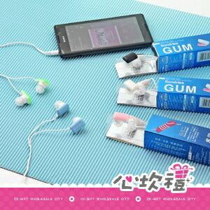 【心坎禮團購批發城】口香糖造型馬卡龍耳機 PC耳機 手機專用耳機 BME8301
