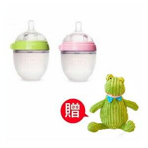 【本月贈法國青蛙布偶x1】Comotomo 矽膠奶瓶  250ML-2入裝 (綠/粉) 0