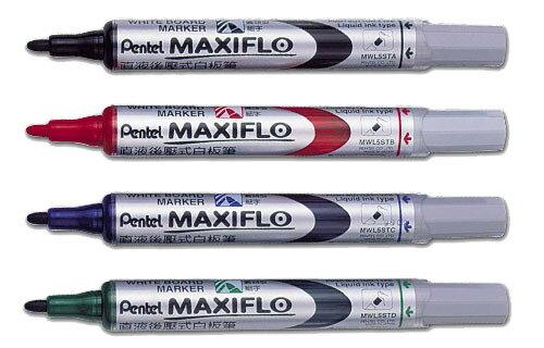 【PENTEL】 MWL5S 直液後壓式白板筆(細字)