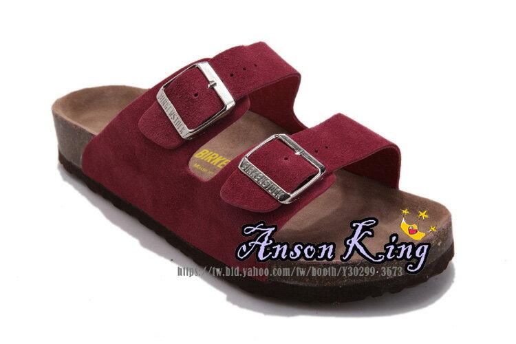 [Anson King]Outlet正品代購  birkenstock Arizona系列 男女款 懶人涼拖鞋 酒紅 2