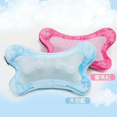JOHNSON喬山 i-Puffy暖骨頭熱力舒壓按摩枕《天空藍/蜜桃粉》