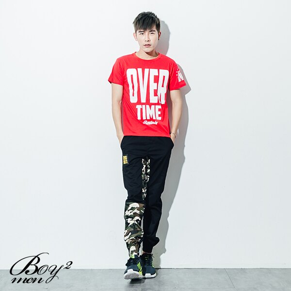 ☆BOY-2☆【ND5455】短袖T恤韓版型男潮流配色OVER TIME印花短T 2