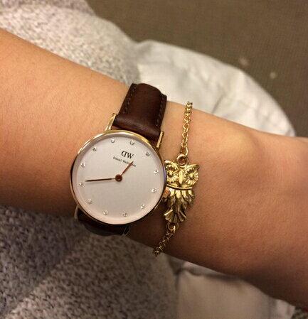 瑞典正品代購 Daniel Wellington 0900DW  玫瑰金鑽  真皮 錶帶 男女錶 手錶腕錶 26MM 2