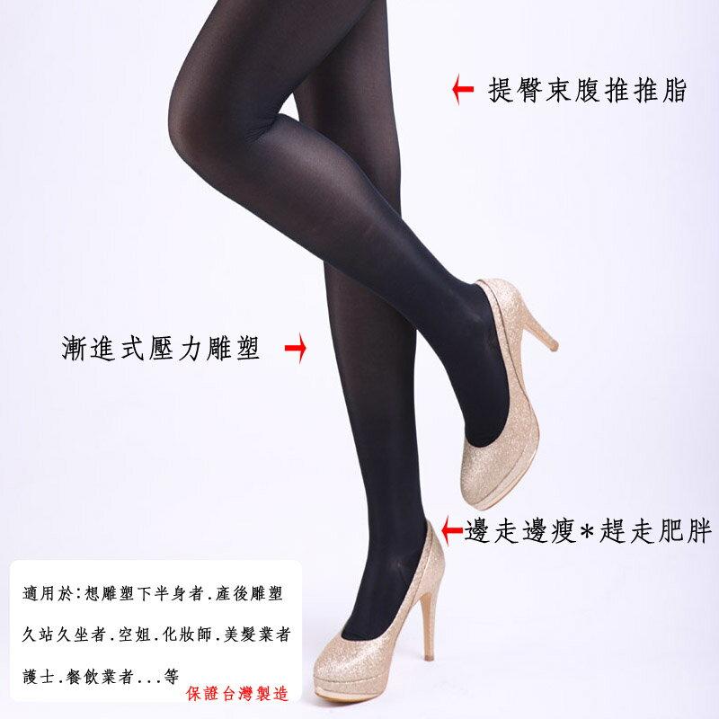 ^(2雙^)140DDEN 漸進式彈性機能壓力褲襪 雕塑腿型 久坐久站者 OL 可內搭 產