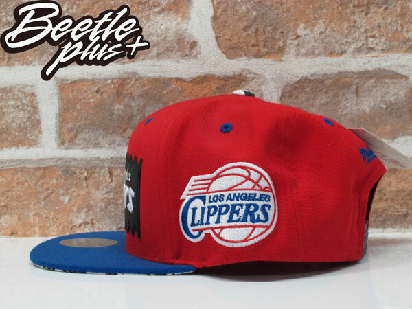 BEETLE PLUS 全新 MITCHELL&NESS X BAIT X NBA 洛杉磯快艇 LOS ANGELES CLIPPERS 紅藍 貼布 聯名 後扣棒球帽 MN-125 1