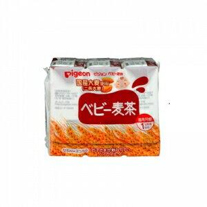 日本【貝親Pigeon】麥茶飲料鋁箔包 (125mlx3入) - 限時優惠好康折扣