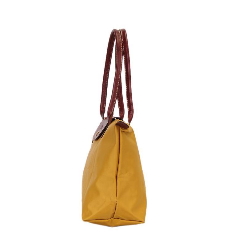 [2605-S號]國外Outlet代購正品 法國巴黎 Longchamp  長柄 購物袋防水尼龍手提肩背水餃包 姜黃色 2