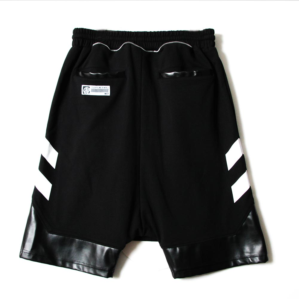 STAGE UNLIMITED BAGGY SHORTS 黑色 單色 3