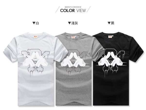 ☆BOY-2☆ 【IT8005】情侶韓版潮流米老鼠手套短袖T恤 1