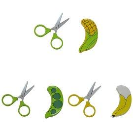 日本製動物食物剪刀 (玉米造型/荷蘭豆/香蕉) - 限時優惠好康折扣