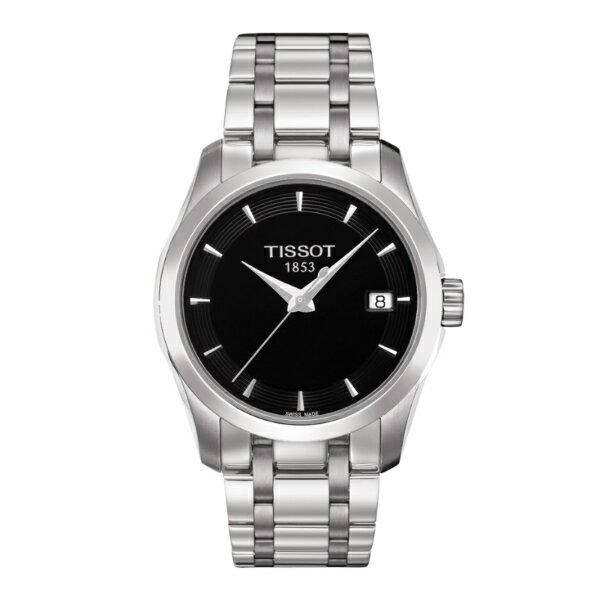 TISSOT天梭T0352101105100 建構師經典日曆腕錶/黑面32mm