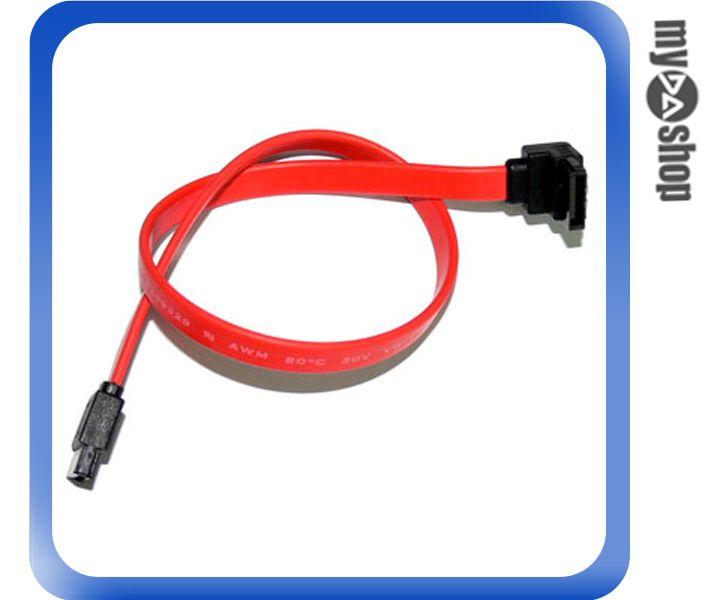 《DA量販店A》全新 30cm 180對90度 SATA 排線 資料線 傳輸線 金屬壓扣設計(12-147)