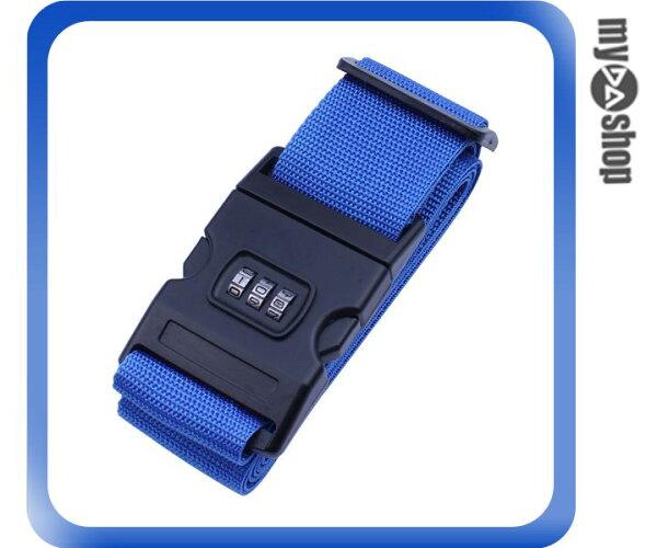 《DA量販店》行李箱束帶 行李綁帶 登機箱束帶 行李捆綁帶 密碼鎖  顏色隨機(13-1003)