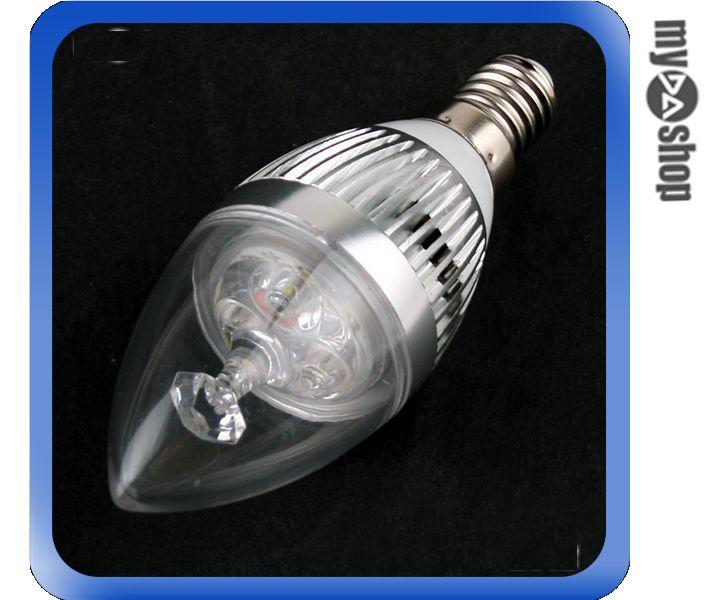 ~DA量販店~ E14 3W LED 水晶燈 蠟燭燈 壁燈 小螺旋燈 超省電燈泡 白光^(