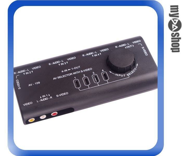 《DA量販店》AV 影音訊號 1對4 手動 訊號切換器 免外接電源 (20-1427)
