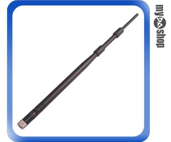 《DA量販店》9DBI 無線 天線 路由器 無線網卡 公頭母芯(20-1639)