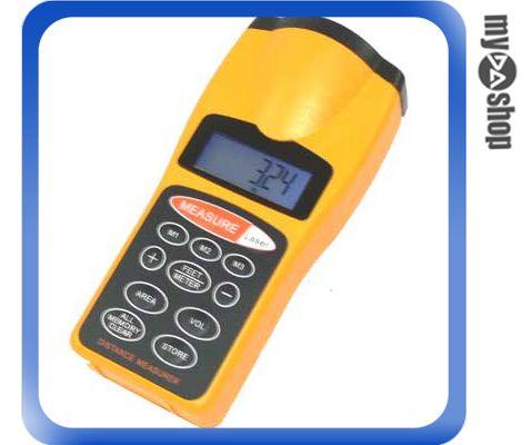 《DA量販店G》超音波 測距儀 可測量長度/面積/體積 有螢幕背光/含雷射瞄準 (22-153)