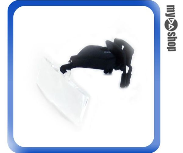 《DA量販店G》全新 頭戴式 眼鏡型 1.5X 2.5X 3.5X 放大鏡 附有白光LED照明 (22-859)