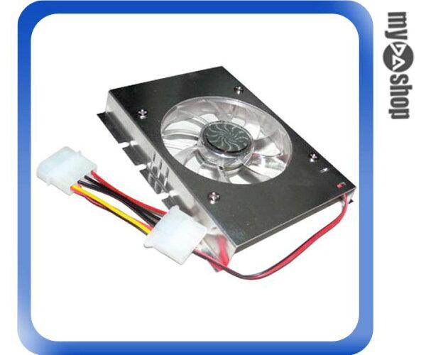 《DA量販店A》全新 鋁合金 3.5 吋 單風扇 硬碟散熱器 幫助硬碟散熱 (23-038)