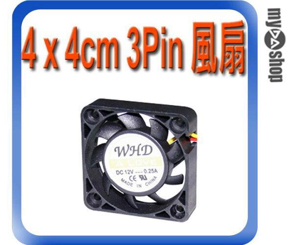 《DA量販店A》全新 散熱器用 4 x 4cm 散熱風扇 小3pin接頭 DC 12V 油封軸承 (23-042)