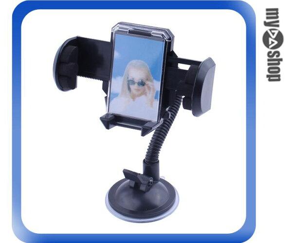 《DA量販店H》 全新 手機/PDA 萬用型車架 五段吸盤 油壓式夾爪 可自由變曲 (28-001)