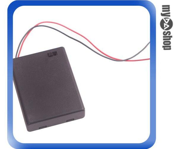 《DA量販店》全新 4號電池盒  可放4顆4號電池 附蓋子 開關 (34-719)