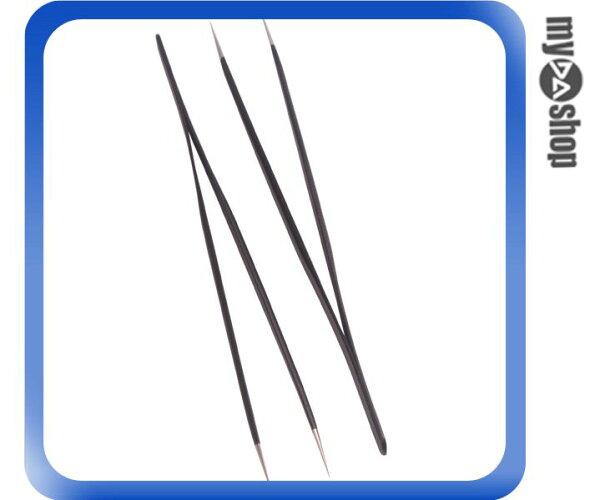 《DA量販店》全新 防靜電鑷子 金屬材質 防觸電 尖嘴 二支裝 (34-728)