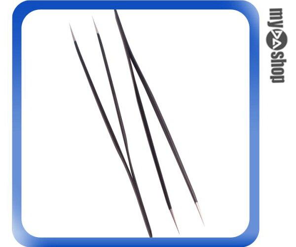 《DA量販店》全新 防靜電鑷子 黑色 金屬材質 防靜電 尖嘴 二支裝  (34-901)