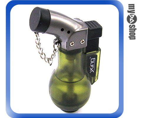 《DA量販店A》銀星酒瓶造型 電子式 噴射火焰 打火機 可重複填充瓦斯使用 (37-296)