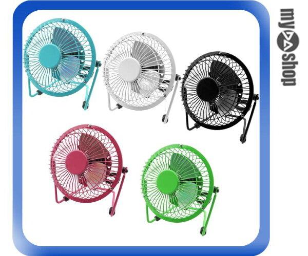《DA量販店》4吋 迷你 復古 靜音 USB 造型 風扇 電風扇 多款顏色 隨機出貨(77-1010)
