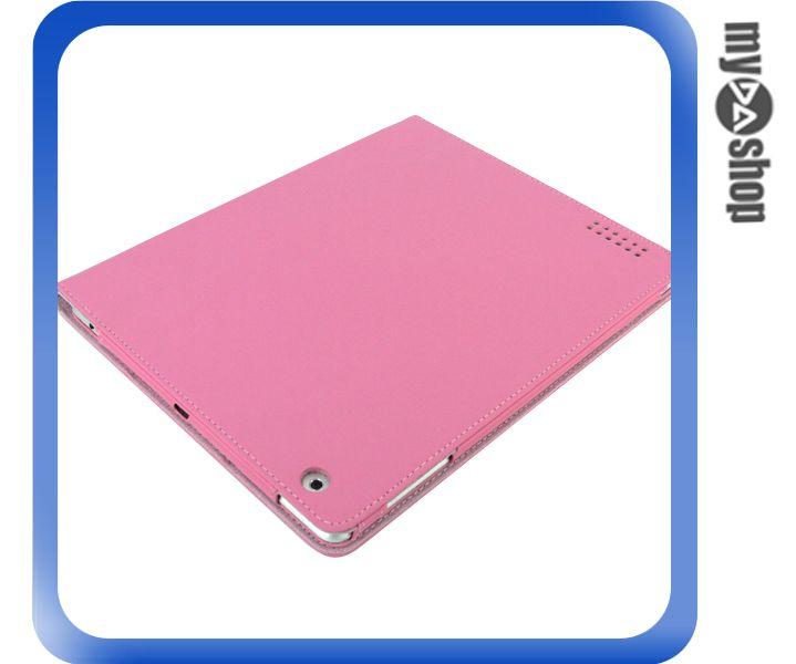 《DA量販店》New iPad iPad3 素面 皮質 輕薄 皮套 保護套 粉紅色款(77-1046)