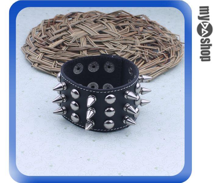 ~DA量販店~飾品  搖滾龐克  寬厚 皮革 金屬 鉚釘 手飾 手環^(78~1010^)