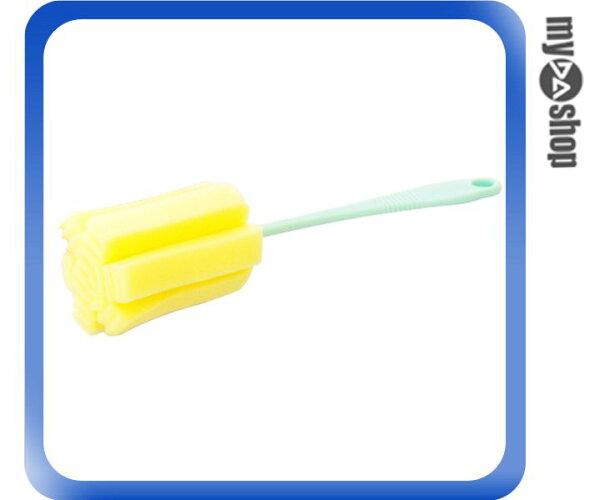 《DA量販店》掛式 廚房用品 清潔刷 海綿刷 瓶口刷 奶瓶刷 顏色隨機(79-0306)