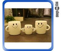 《DA量販店》幸福 笑臉 情侶 親子 對杯 陶瓷杯 馬克杯 咖啡杯 水杯 一組三入(79-1372)