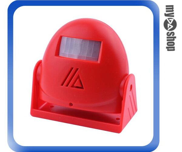 《DA量販店》音樂 語音 紅外線 感應 門鈴 警報器 迎賓器 防盜器 紅色(79-1585)