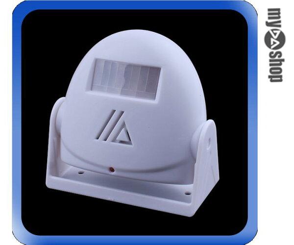 《DA量販店》音樂 語音 紅外線 感應 門鈴 警報器 迎賓器 防盜器 白色(79-1586)