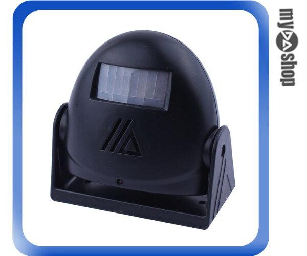 《DA量販店》音樂 語音 紅外線 感應 門鈴 警報器 迎賓器 防盜器 黑色(79-1588)