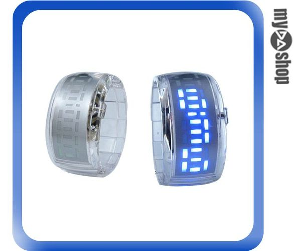 《DA量販店》韓國 潮流 果凍 LED 電子錶 手鐲錶 手錶 情侶錶 對錶 透明白(79-1657)