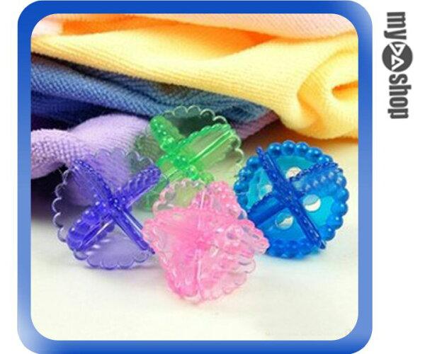 《DA量販店》透明 彩色 洗滌 洗衣球 衣物 衣服 柔軟 防打結 洗衣機 專用(79-1965)