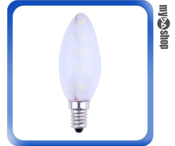 《DA量販店》E14 LED 白光 85-265V 蠟燭燈 燈泡 拉尾燈(79-2152)