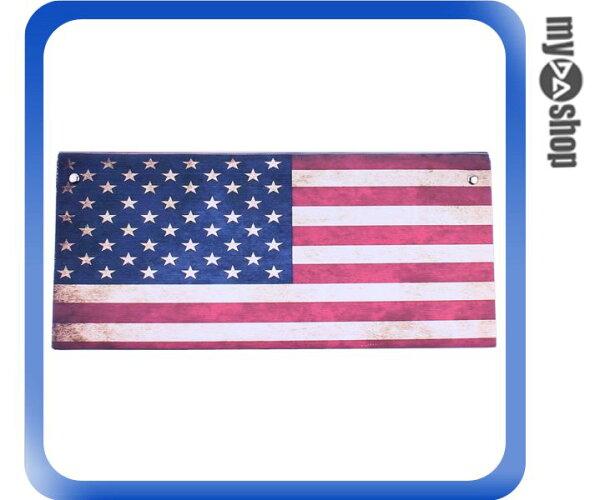 《DA量販店》手工 創意 生活 美國 國旗 錢包 中性 皮夾 長夾 鈔票夾(79-2849)