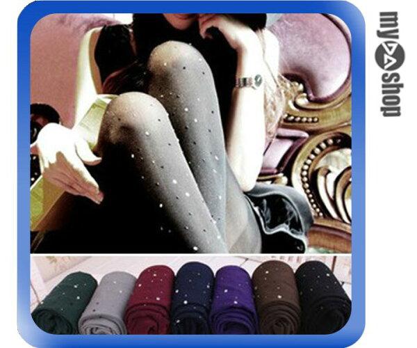 《DA量販店》秋冬 天鵝絨 水鑽 連身 120D 褲襪 內搭褲 顏色隨機出貨(79-4969)