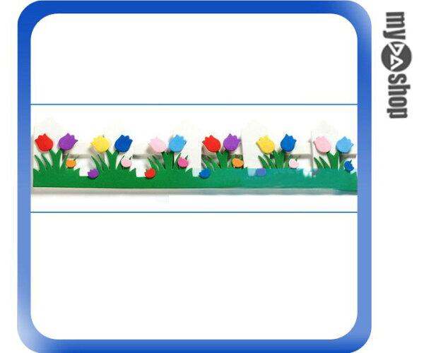 《DA量販店》教室 學校 布告欄 布置 飾品 立體 花邊 小花 花朵 柵欄(79-6776)